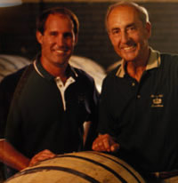 Parker and his son Craig Beam, Master Distillers