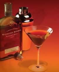 5 Point Woodford Manhattan created by Eric Dentinger of Jack's Lounge, Louisville, Kentucky