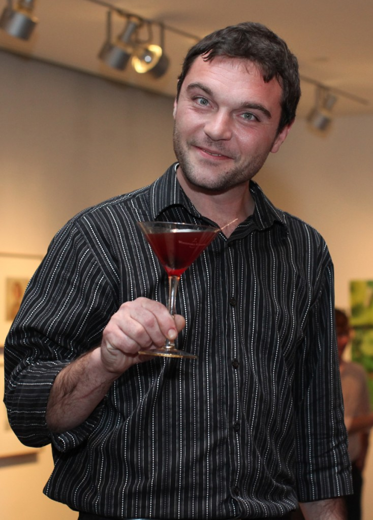 Jeromy Edwards with his winning Cider Manhattan