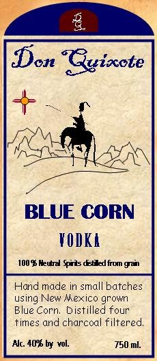 Blue Corn Vodka