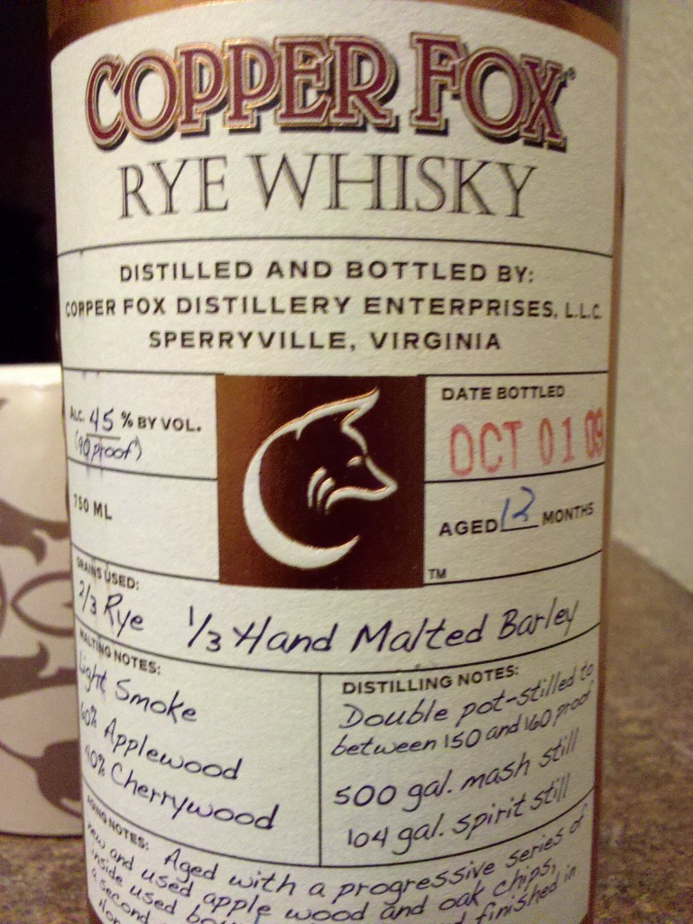 Copperfox Rye Whisky Review