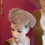 Taupe Shell Mini Beret by Paris Kyne Kentucky Derby Hat