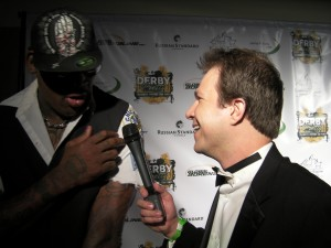 Dennis Rodman being interviewed by BourbonBlog.com Host Tom Fischer