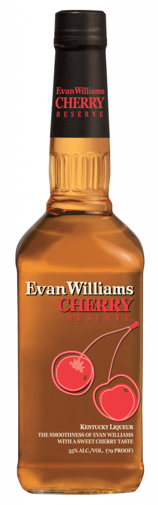 Evan Williams Cherry Reserve Bourbon. Cherry flavored Bourbon