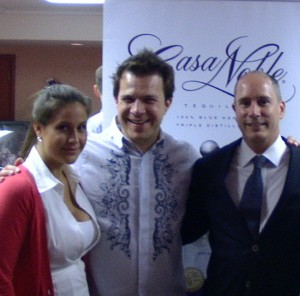 BourbonBlog.com's Tom Fischer with Casa Noble CEO Jose Hermosillo and Casa Noble Director of New Business Tess Wilkerson