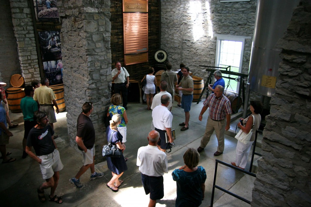 A Group hosted by The Bourbon Review Magazine tours Woodford Reserve in Versailles, Kentucky PHOTO BY: Sarah Resnick