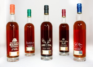 Sazerac Rye 18 Year, Eagle Rare 17 Year Old, George T. Stagg, William Larue Weller and Thomas H. Handy Sazerac