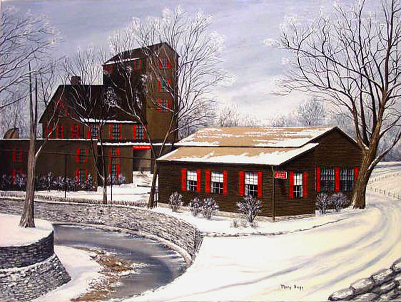 Winter Scene Maker's Mark Distillery Mary Hagy
