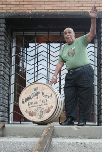 Jimmy Johnson Rolls Out rolls out the 6 millionth barrel at the Distillery in 2008