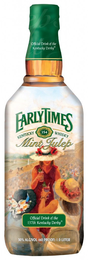 Early Times Mint Julep Bottle Kentucky Derby Art Contest Search 2012