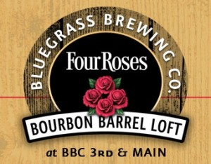Bluegrass brewing company Bourbon Barrel loft four roses bourbon Louisville Kentucky