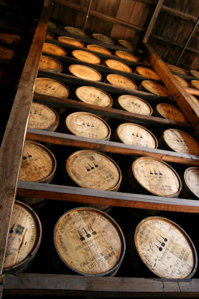 Bourbon Barrels Aging at Woodford Reserve, Versailles, Kentucky, photo by Sarah Resnick