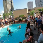 Brugal Rum Pool Party at Tales of the Cocktail 2011, atop the Hotel Monteleone in New Orleans, LA