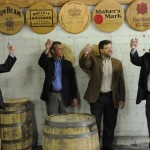 KDA President Eric Gregory and Barrel House Co-Founders Jeff Wiseman and Peter Wright join Wild Turkey Master Distiller Jimmy Russell in a celebratory toast during the announcement.(left to right): KDA President Eric Gregory and Barrel House Co-Founders Jeff Wiseman and Peter Wright join Wild Turkey Master Distiller Jimmy Russell in a celebratory toast during the announcement.