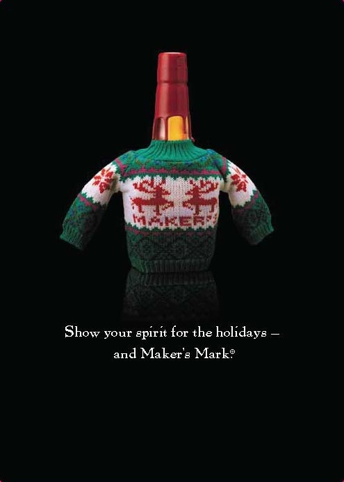 Maker's Mark Christmas sweaters