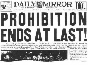 Prohibition Ends Repeal Day December 5 1933