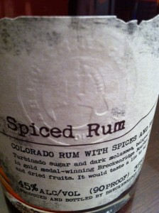 Colorado Spiced Rum Label Breckenridge