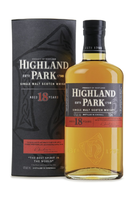 Highland park 18 year old scotch
