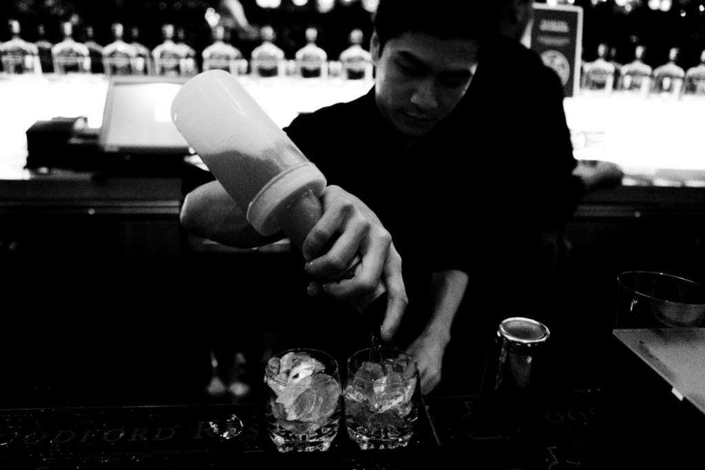 Making cocktails