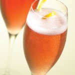 Champagne and Pink Cocktail