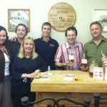 Friends at Frontier Liquors, Evansville Indiana during a W. H. Harrison Bourbon and Desirée Vodka Tasting