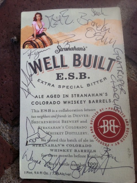 Stranahans Well Built E.S.B. Label