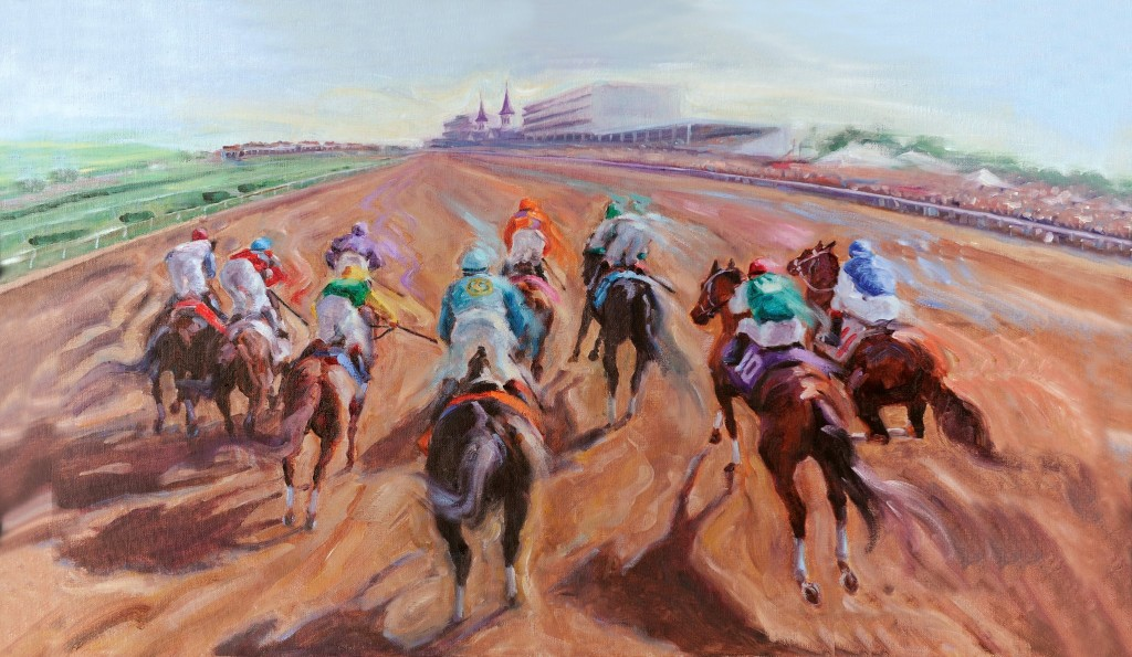Kentucky Derby 138 Painting Art Churchill Downs Celeste Susany