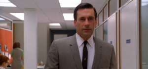 "Jon Hamm stars as Don Draper in ""Mad Men"" Season 5, photo from the trailer advertisement Season Five of ""Mad Men"""