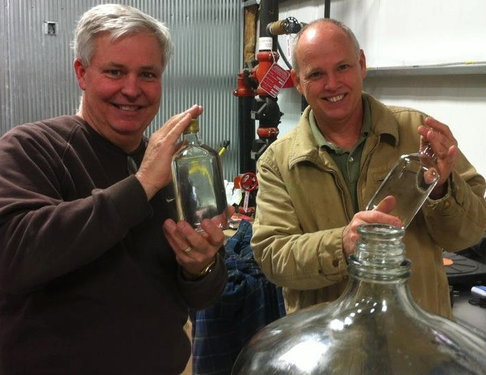 Paul Beam and Steve Beam of Founders Limestone Branch Distillery, Lebanon, Kentucky