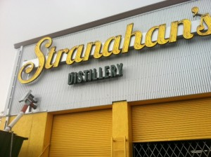 new Stranahans Distillery sign