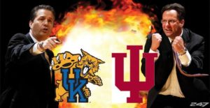 UK Wildcasts vs. IU Hoosiers John Calipari and Tom Crean