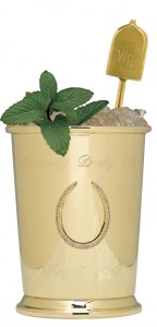 Gold 1000 Dollar Mint Julep Cup, 2000 Thousand Dollar Mint Julep