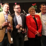 Kentucky Judges of the 9th Annual Rose Julep Recipe Contest (L to R): Co-Publisher/Founder of The Bourbon Review Magazine; Hawthorn Beverage Group Founder - Mixologist Josh Durr, Kentucky Bartender and Author Joy Perrine