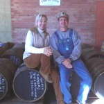 Tim Smith with Troy Ball of Toy and Sons Moonshiner Distillers, Asheville, North Carolina