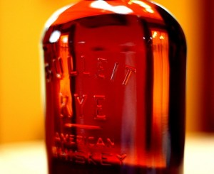 Bulleit Rye Whiskey Bottle