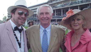BourbonBlog.com's Tom Fischer with Kentucky Governor Steve Beshear and his wife First Lady Jane Klingner Beshear