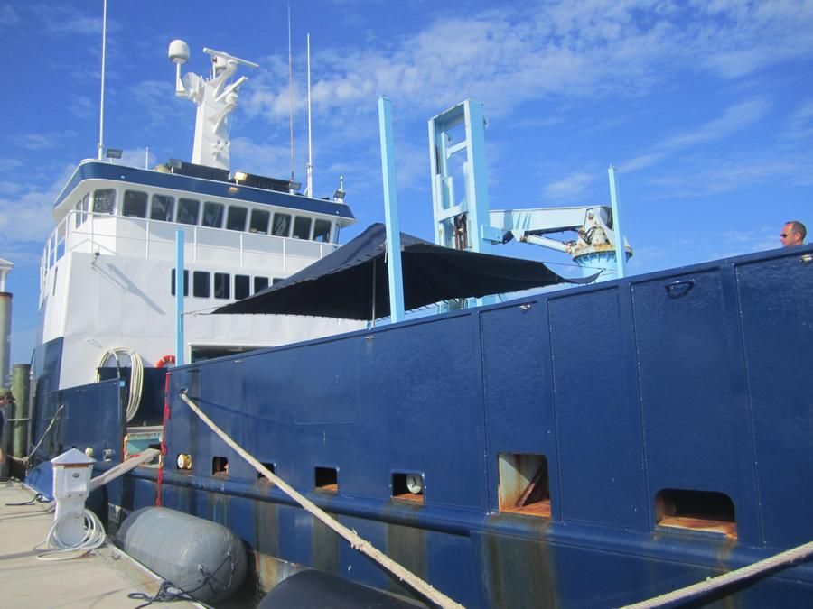 The research vessel that aged the Jefferson's Ocean-Aged Bourbon