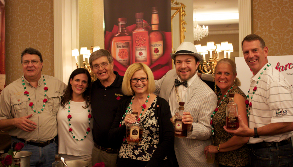 Four Roses Bourbon Team including Dan Gardner, Al Young, Patty Holland, Karen Kushner, and Patrick Stewart