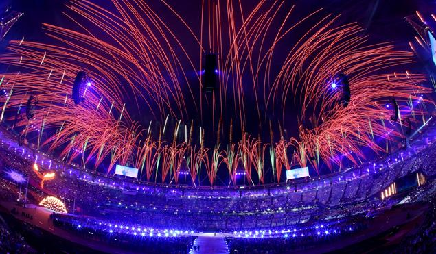 London Olympics Stadium Closing Ceremony Fireworks