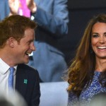 Prince Harry and Kate Middleton at London Olympics Closing Ceremony 2012