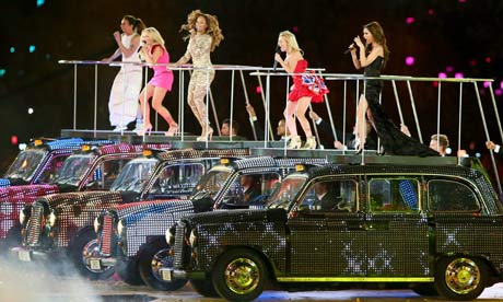 Spice Girls Black Cabs London Olympic Closing Ceremony