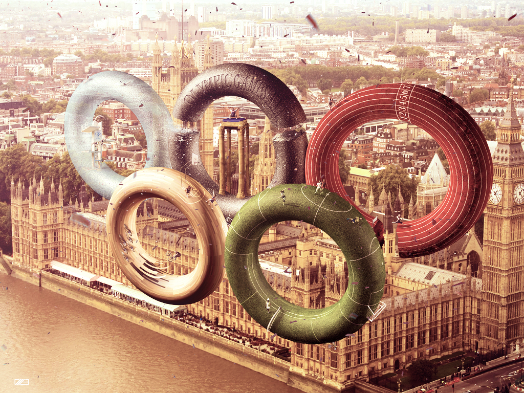 An Unofficial Logo for the London Olympics 2012 by Italian graphic designer Leonardo Dentico