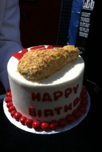 Chicken Birthday Cake
