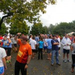 Bourbon Chase 2012 Teams, volunteers and runners gather at Marker's Mark Distillery to watch the hand offs