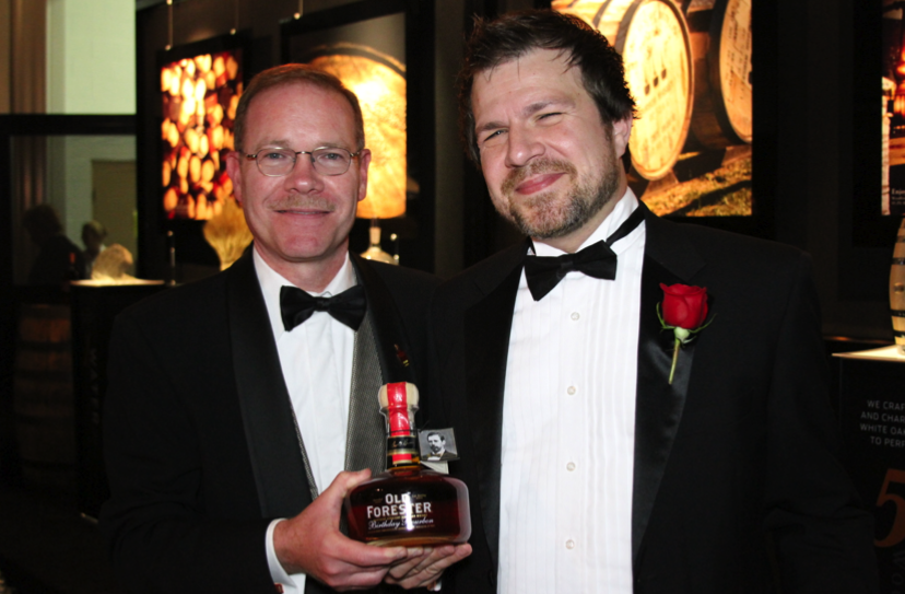 Chris Morris Brown-Forman Master Distiller with BourbonBlog.com's Tom Fischer