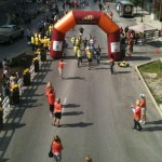 The Finish Line at Bourbon Chase near Triangle Park in Lexington, Kentucky