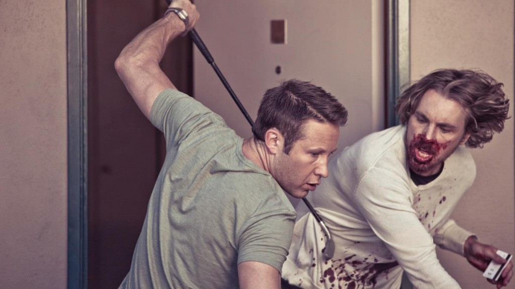 Hit and Run: Michael Rosenbaum as Gil Rathbinn hits Dax Shepard as Yul Perrkins a.k.a. Charles Bronson with a golf club