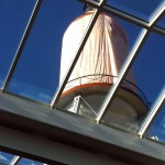 The New Old Foreste Water Tower before it waiting to be unveiled atop Brown-Forman, Louisville, Kentucky