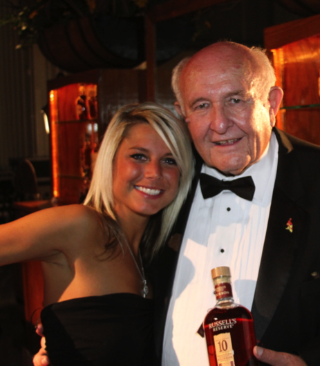 American Honey Girl Haley with Wild Turkey Master Distiller Jimmy Russell