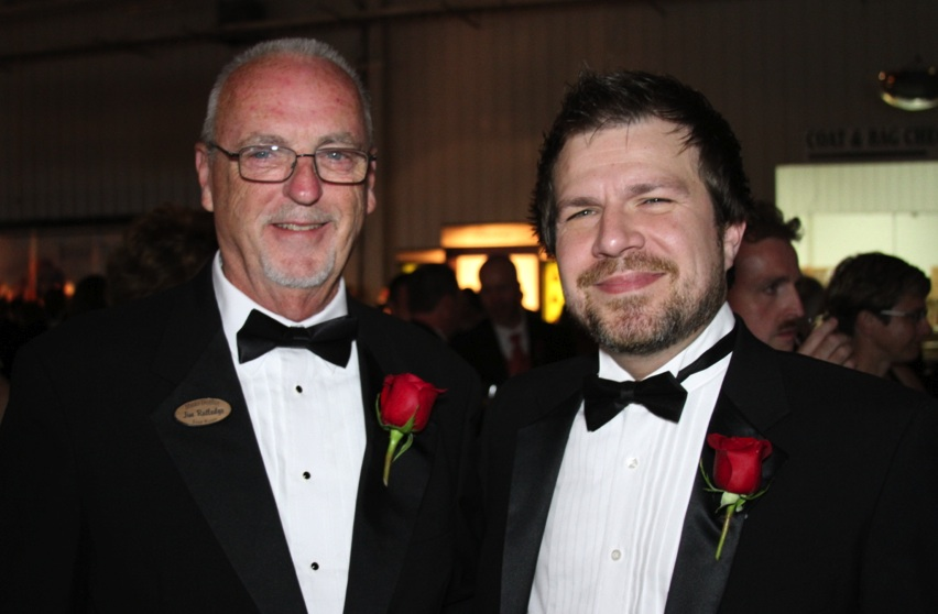 Four Roses Master Distiller Jim Rutledge and BourbonBlog.com Tom Fischer at Kentucky Bourbon Festival Gala 2012